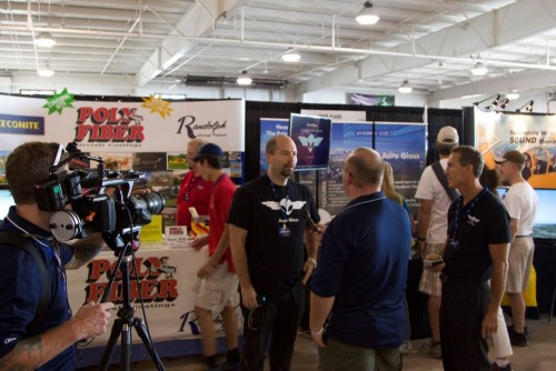 Busy booth at EAA Airventure