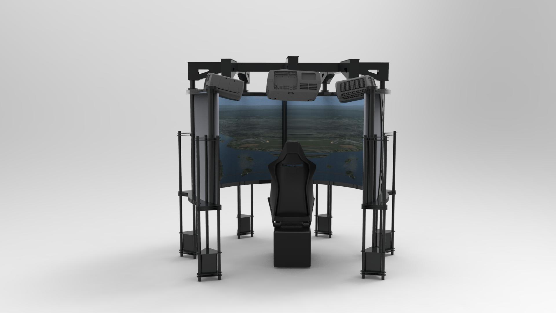 Simulator 270° back view